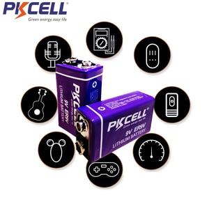 Image 4 - 2 pièces PKCELL ER9V 1200mAh 9V Li SOCl2 Batteries au Lithium Bateria pour détecteur de fumée batterie lithium ion 6LR61 6f22thermome électronique
