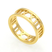 Fine Jewelry Top Quality Roman Number Ring Fashion Women Rings For Stainless Steel Girl Wholesale