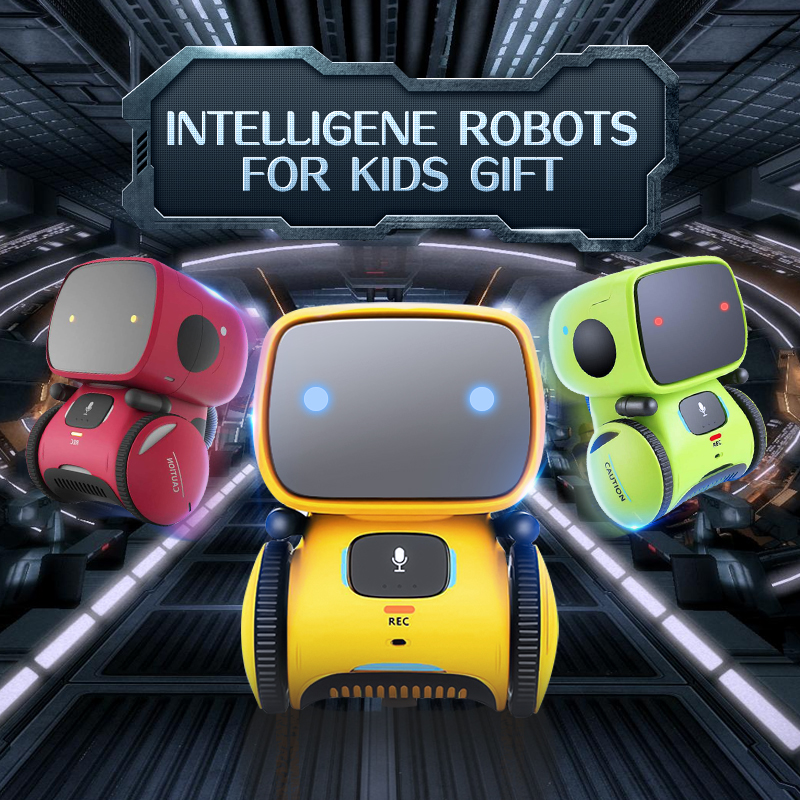 3 system RC toys Intelligent Robot Dance Music Recording Dialogue Touch-Sensitive Control Interactive robot Toy for Kids Gift image