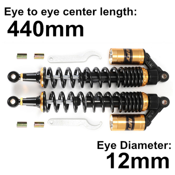 Universal 440mm 17.32 Golden Gas Motorcycle Off-Road Moto Mountain Dirt Bike Rear Front Shock Absorber Suspension Protector D15 universal 375mm 14 76 black fork motorcycle off road moto mountain dirt bike rear front shock absorber suspension protector d15