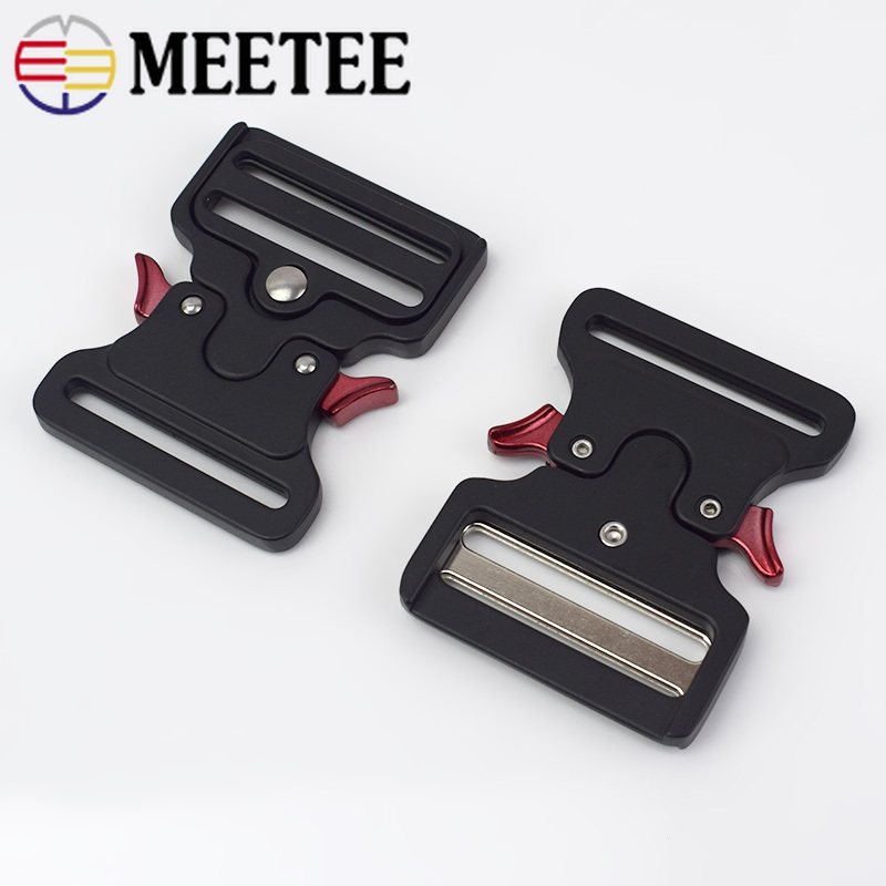 Meetee ID50mm Thicking Metal Release Buckle for Waist Belt Safety Canvas Bands Hooks Clips DIY Outdoor Luggage Supplies YK201 in Buckles Hooks from Home Garden