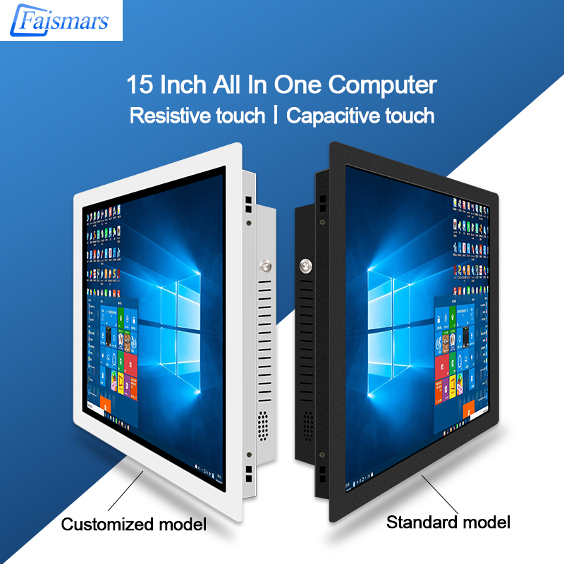 Faismars 15 Inch Industrial All In One PC With Latest i5 8th Gen Processor Touch Screen Tablet Panel PC Built-in WIFI With Win10