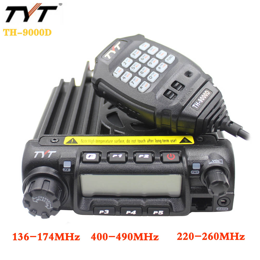 TYT Walkie-Talkie Mobile-Radio TH-9000D Power 200CH 60W Latest-Version High/mid/Low-selectable