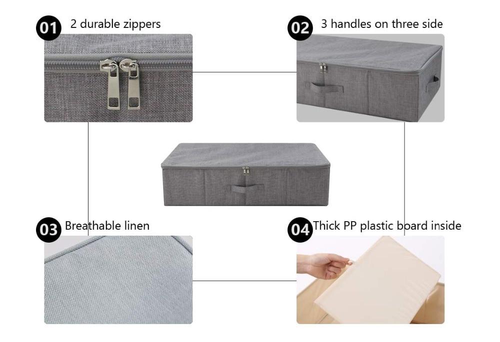 Underbed Shoe Storage Organizer Box 1 (6)