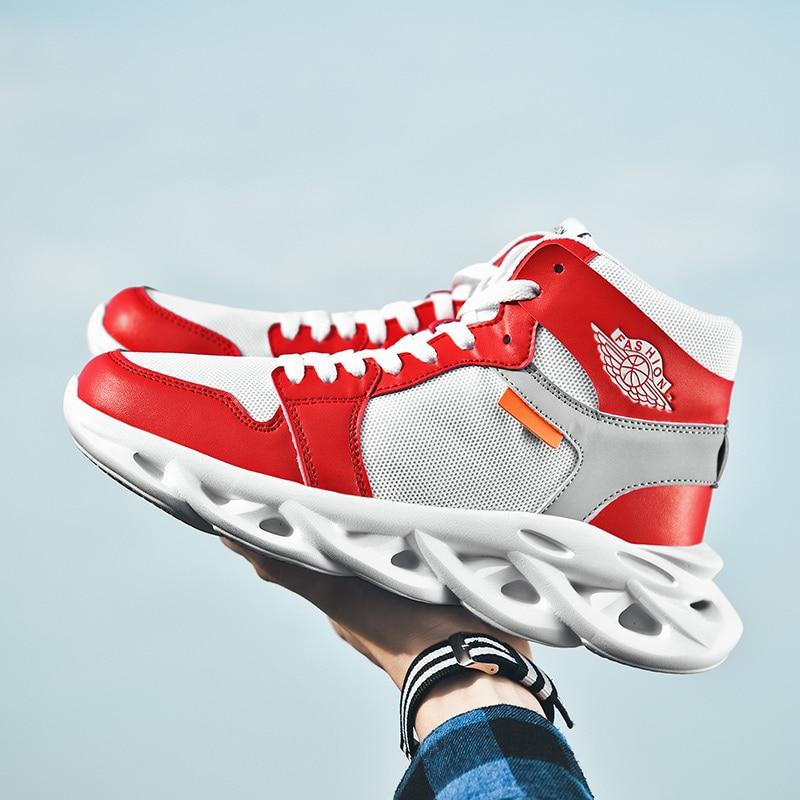 Joker Simple Fashion Men Sneakers HighTop Casual Sneaker Shoes Lightweight Outdoor Walking Male Sneakers Tenis Feminino Footwear