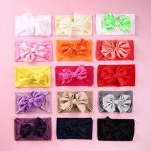 30pc/lot Large 4.8 Inch Chiffon Bow with Wide Nylon Headabnd Hair Bows Children Girls Bows Headbands Headwear 16 colors U Pick