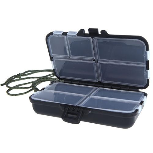 Storage-Case Lure Fishing-Tackle-Box Hooks Bait Compartments New 9 title=