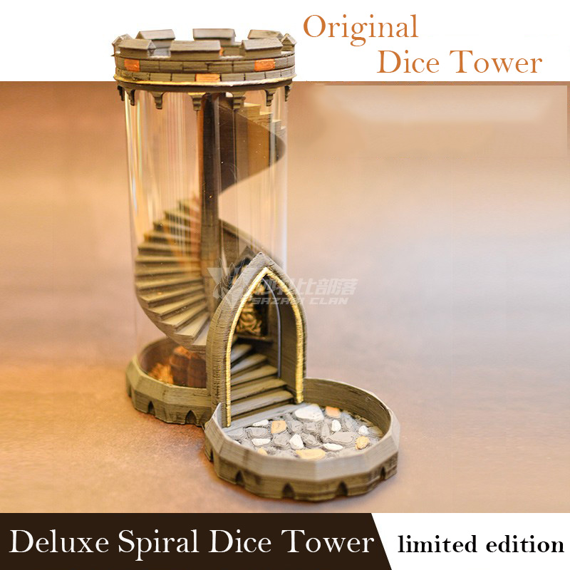 Original Sprial Deluxe Dice Tower Model Match All Common TRPG Dungeons Miniature BBG Dragon Game