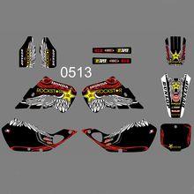 купить For Honda CR125 CR 125 1998 1999 CR250 CR 250 1997 1998 1999 New Full Graphics Decals Stickers Custom Number Name Glossy Bright по цене 3895.3 рублей