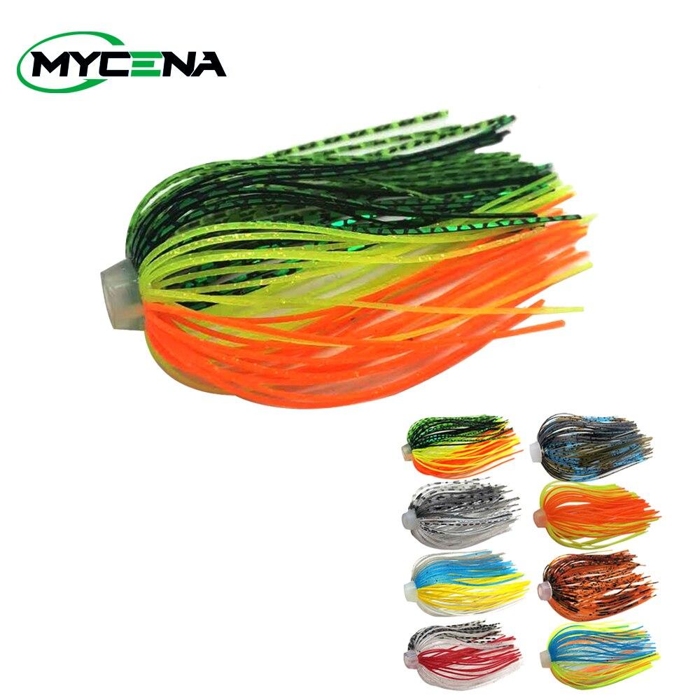 5 demetleri/lot 88 teller silikon etekler elastik delik şemsiye etekler balıkçılık aksesuarları Buzzbaits Spinner Buzz yem
