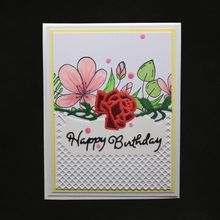 Happy Birthday Flower Metal Cutting Dies Stencil Scrapbooking Album Stamp Paper Card Embossing Crafts Decor