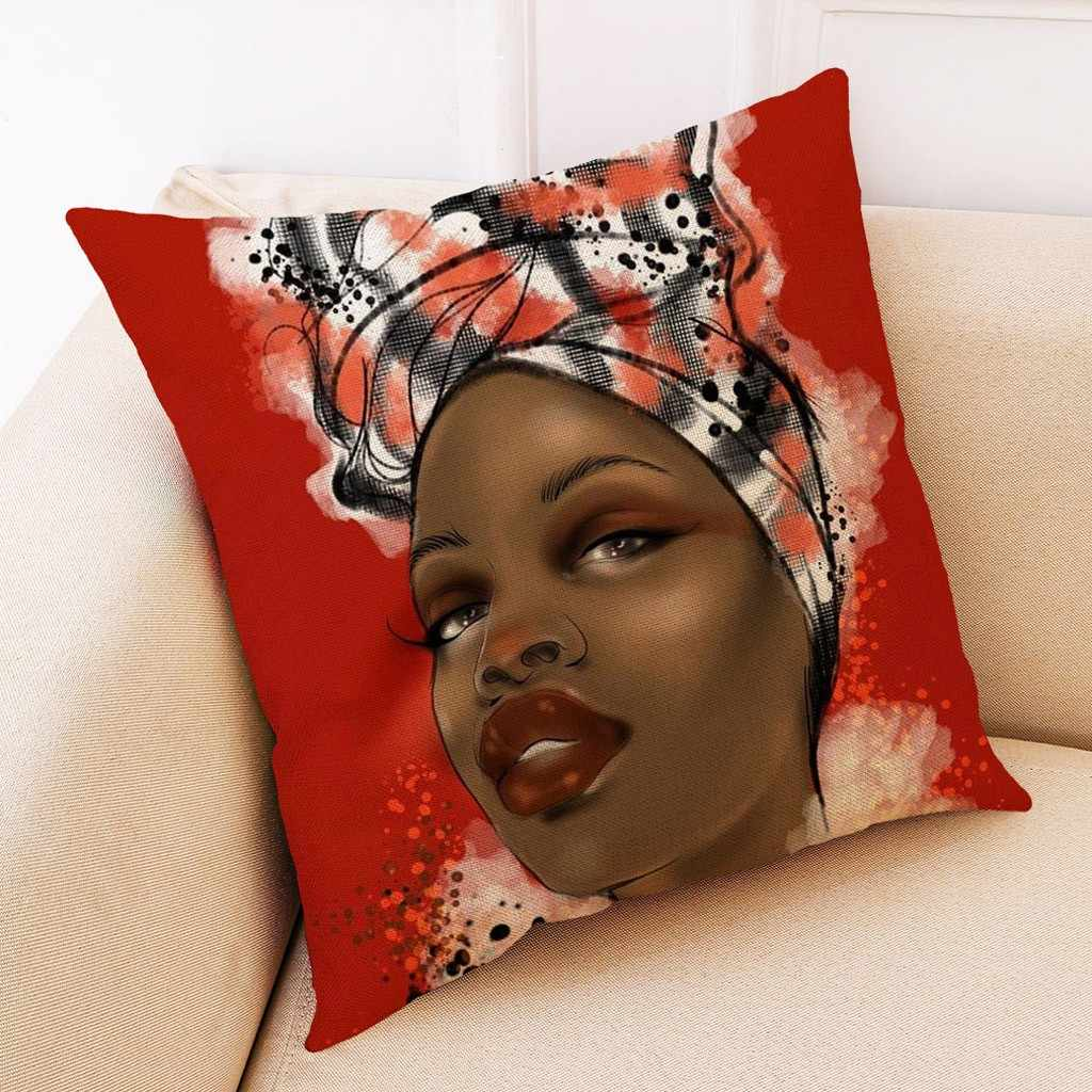 Châu Phi Vỏ Gối Nằm Dùng Cho Trang Trí Nhà Đệm Châu Phi Nữ Áo Gối Ném Gối Có Sơn Dầu Châu Phi Vỏ Gối