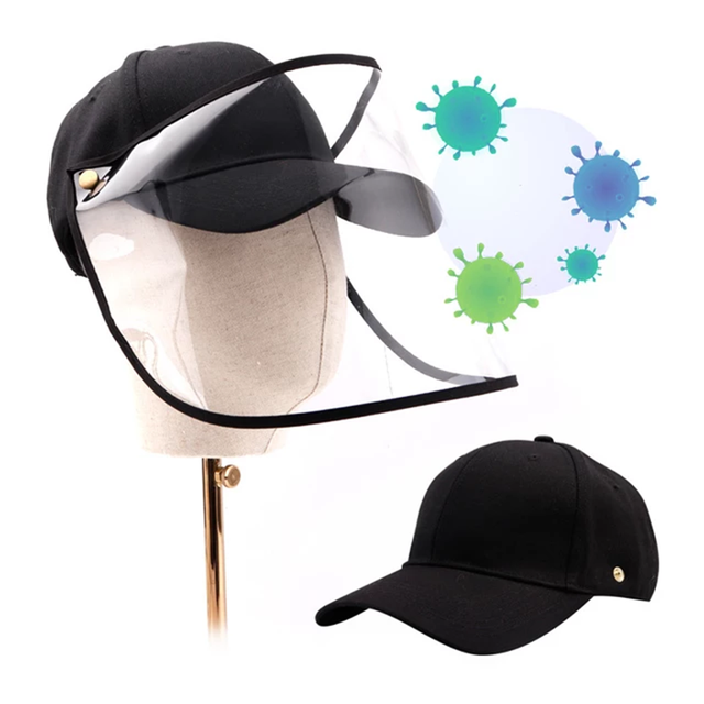 New Face Shield Hat Head Eye Protective Cap Anti-saliva Anti-Dust Hat Removable Face Cover Baseball Cap Dropshipping 1