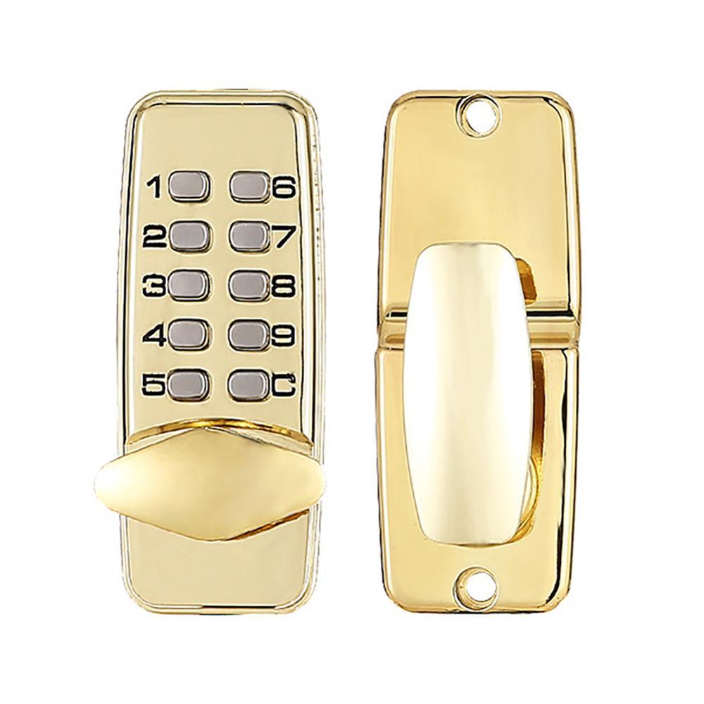 Mechanical Digital Door Lock Waterproof Rust-free Keyless Push Button Keyless Combination Code Lock Keyless Smart Home Deadbolt