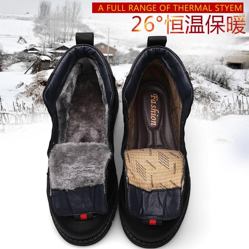 Новые брендовые весенние мужские рабочие ботинки в стиле ретро; кожаные ботильоны в западном стиле; высококачественные слипоны; уличные Бо... - 3