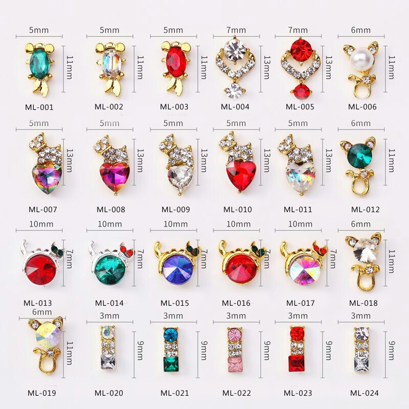 New Style Hot Selling Nail Ornament Nail Sticker Man-made Diamond DIY Tool Diamond Set New Products Recommended He Jin Zuan