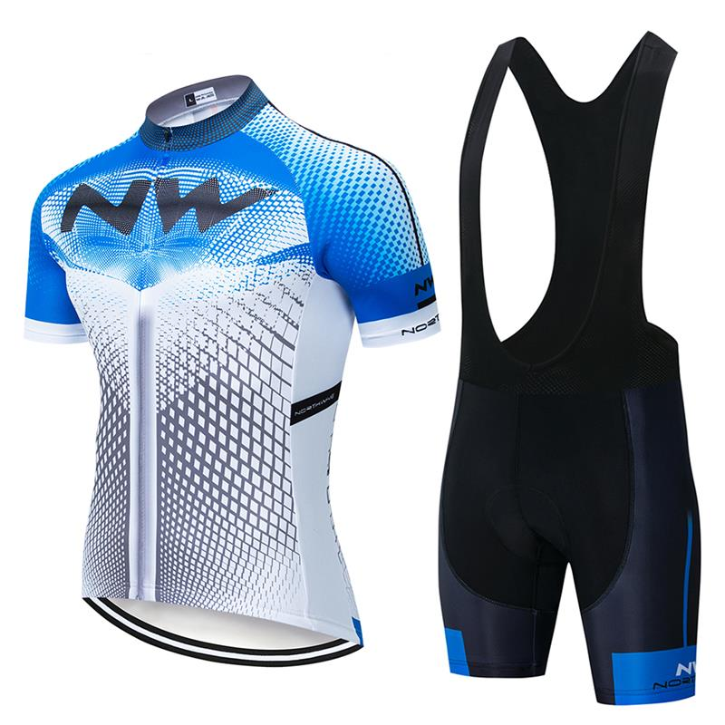NW 2020 Men's Summer Cycling Jersey Set Racing Bicycle Clothing Quick-Dry Mountain Bike Clothing Outdoor Cycling Sportswear