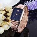 WEIQIN Japan Bewegen Quarz Frauen Uhren Rechteckigen Legierung stap Starry sky Casual Business Weibliche Gold Armbanduhr Relogio Feminino|Damenuhren|   -
