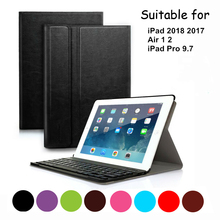 PU Leather Bluetooth Keyboard Case For iPad 2017 2018 / iPad Air 1 2/Pro 9.7 Magnetic Detachable Anti-slip Cover For iPad 5 6 стоимость