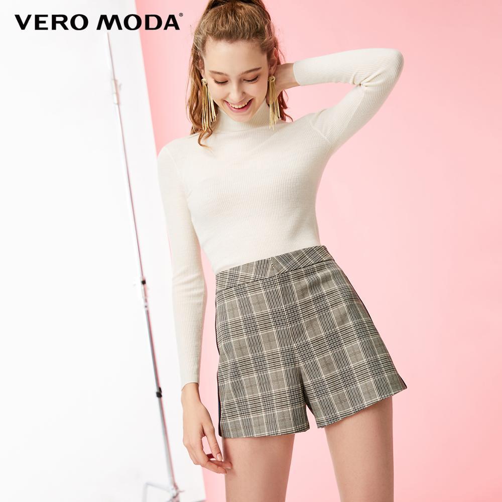 Vero Moda Women's Plaid Splice Side Seams Mid-rise Shorts | 319115530
