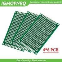 5 uds 4x6cm 4*6 cm x 6cm doble lado PCB prototipo diy universal impresa de placa de circuito|PCB de una sola cara| |  -