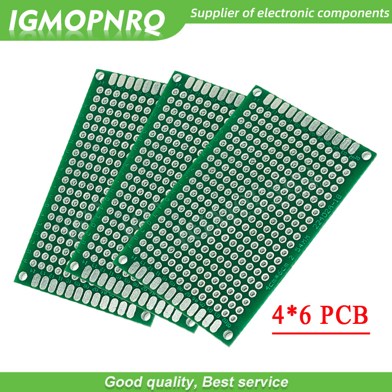 5pcs 4x6cm 4*6 4cmx6cm Double Side Prototype PCB Diy Universal Printed Circuit Board