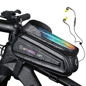 NEWBOLER Rainproof Bike Bag Frame Front Top Tube Cycling Bag Reflective7.0in Phone Case Touchscreen Bag MTB Bicycle Accessories(China)