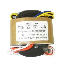 30W R core transformer dual 6V 9V 12V 15V 18V 24V 30V for preamplifier dac