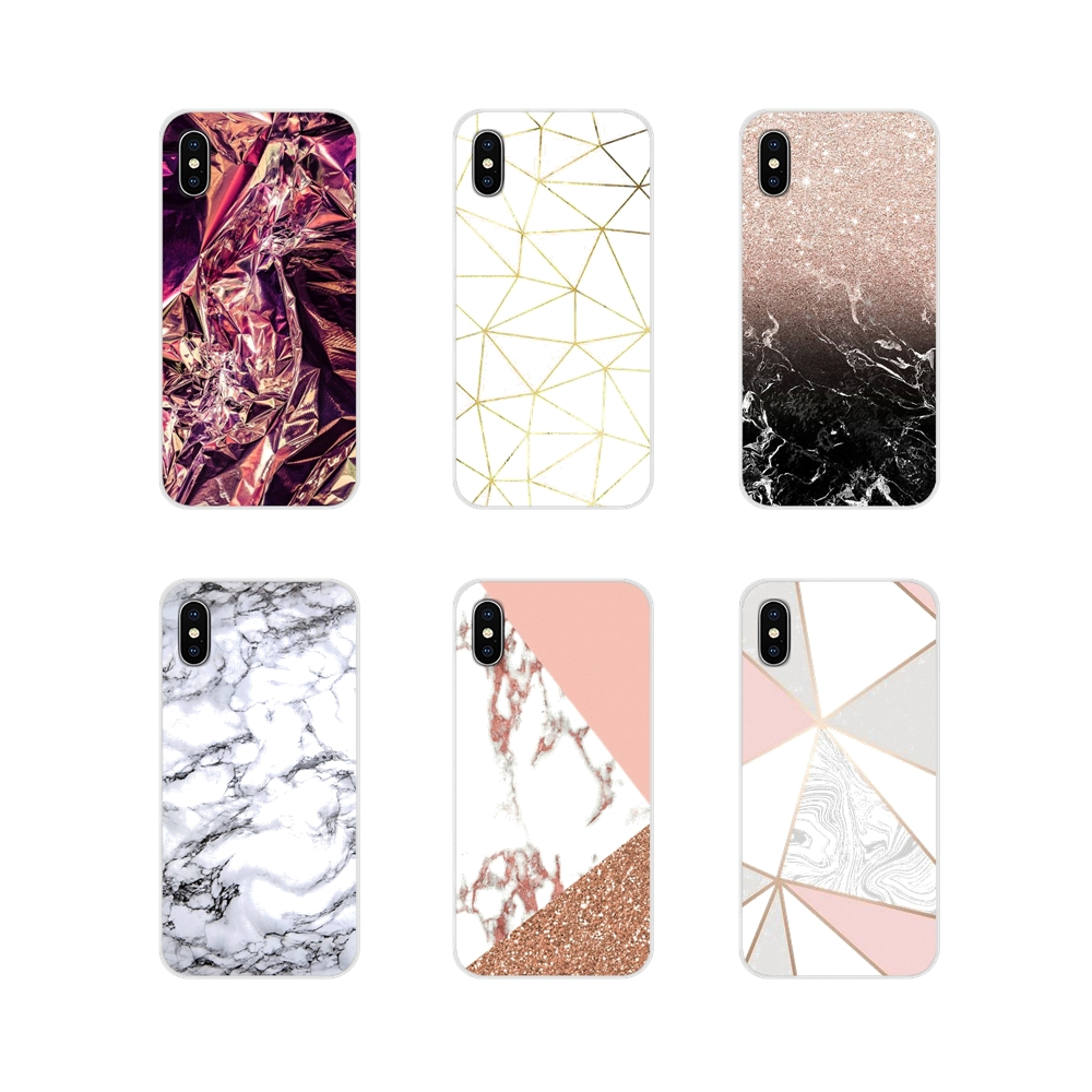 For <font><b>Huawei</b></font> Mate <font><b>Honor</b></font> 4C 5C 5X 6X <font><b>7</b></font> 7A 7C 8 9 10 8C 8X 20 <font><b>Lite</b></font> Pro Rose <font><b>Gold</b></font> Glitter Marble Accessories Phone Shell Covers image
