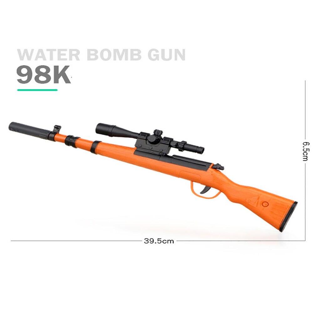 Plastic Toy Gun AK47 Groza 98K M416 AWM SKS Water Gel Ball Manual Assault Rifle Gun Black Outdoor Sports Shooting Game For Boys
