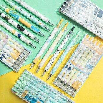 6 unids/set 0,5mm la belleza de la juventud mecánica bolígrafo de tinta de Gel escuela material de escritura para oficina Kawaii escuela suministros papelería regalo