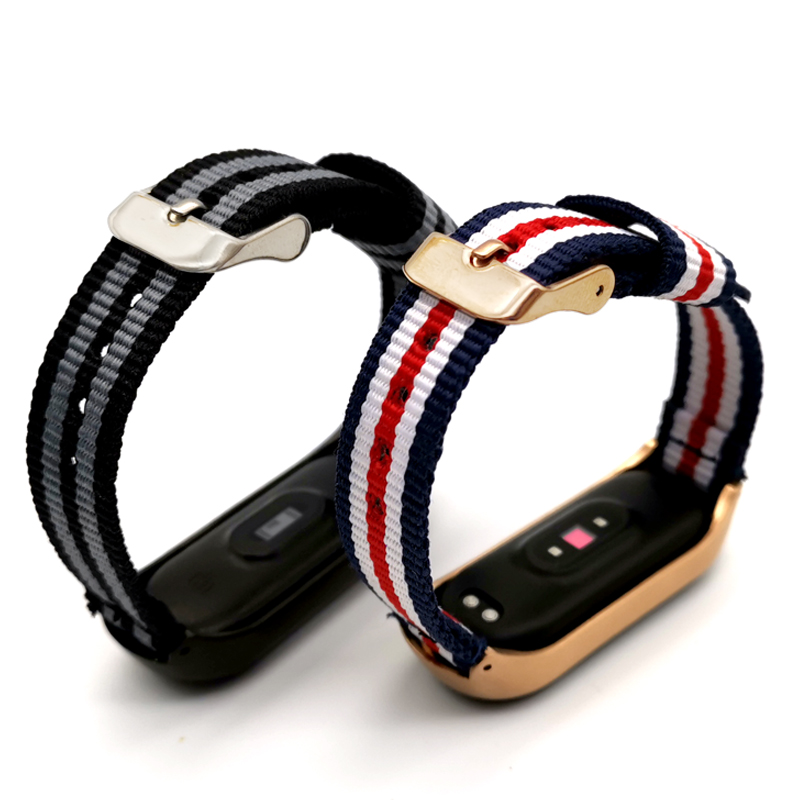 For <font><b>Xiaomi</b></font> <font><b>Mi</b></font> <font><b>Band</b></font> <font><b>4</b></font> 3 Accessories Bracelet Wrist <font><b>Band</b></font> Sport Nylon Wriststrap For <font><b>Xiaomi</b></font> Miband 3 <font><b>Relogio</b></font> <font><b>Mi</b></font> <font><b>Band</b></font> <font><b>4</b></font> 3 image