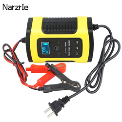 Car Battery Charger Automatic Smart Motorcycle Battery Charger Maintainer 6A 12v Universal Motorcycle Car Battery Pulse Chargers