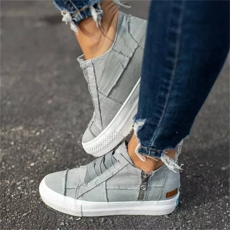 Plus Size Casual Women Shoes 2020 Spring Summer Canvas Platform Ladies Sneakers New Elastic Band Women Vulcanize Shoes VT1223 (1)