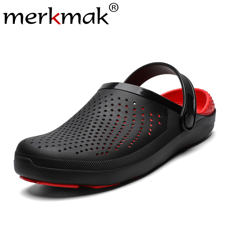 Merkmak Breathable Big Size Men Shoes 2019 New Summer Casual Beach Shoes Comfortable Wear-resistant Male Flat Sandals Drop Ship