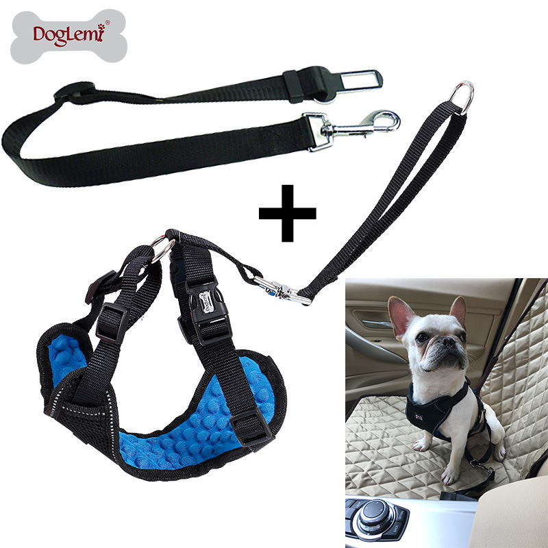 New Products Hot Sales Comfortable Massage Pet Car Mounted Safety Belt Car Tied Dog Traction Rope Set