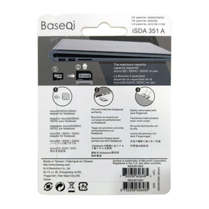 "Image 5 - BaseQi 알루미늄 스텔스 드라이브 마이크로 SD/TF 카드 어댑터 메모리 확장 SD 카드 리더기 Microsoft Surface Book 2 15"""