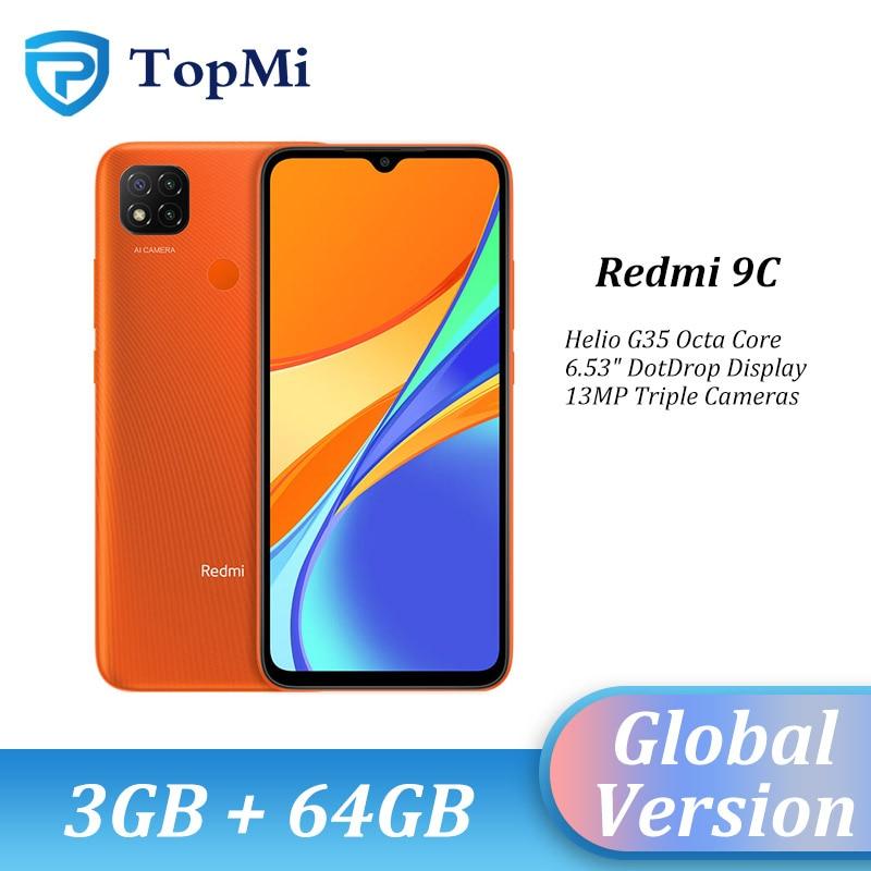 Version mondiale Xiaomi Redmi 9C téléphone portable 3 go RAM 64 go ROM 13MP Triple caméra MTK Helio G35 5000mAh batterie Redmi9c