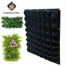 Saco de creme de plantas greening vertical horizontal rolo de grama saco plantador do jardim de parede