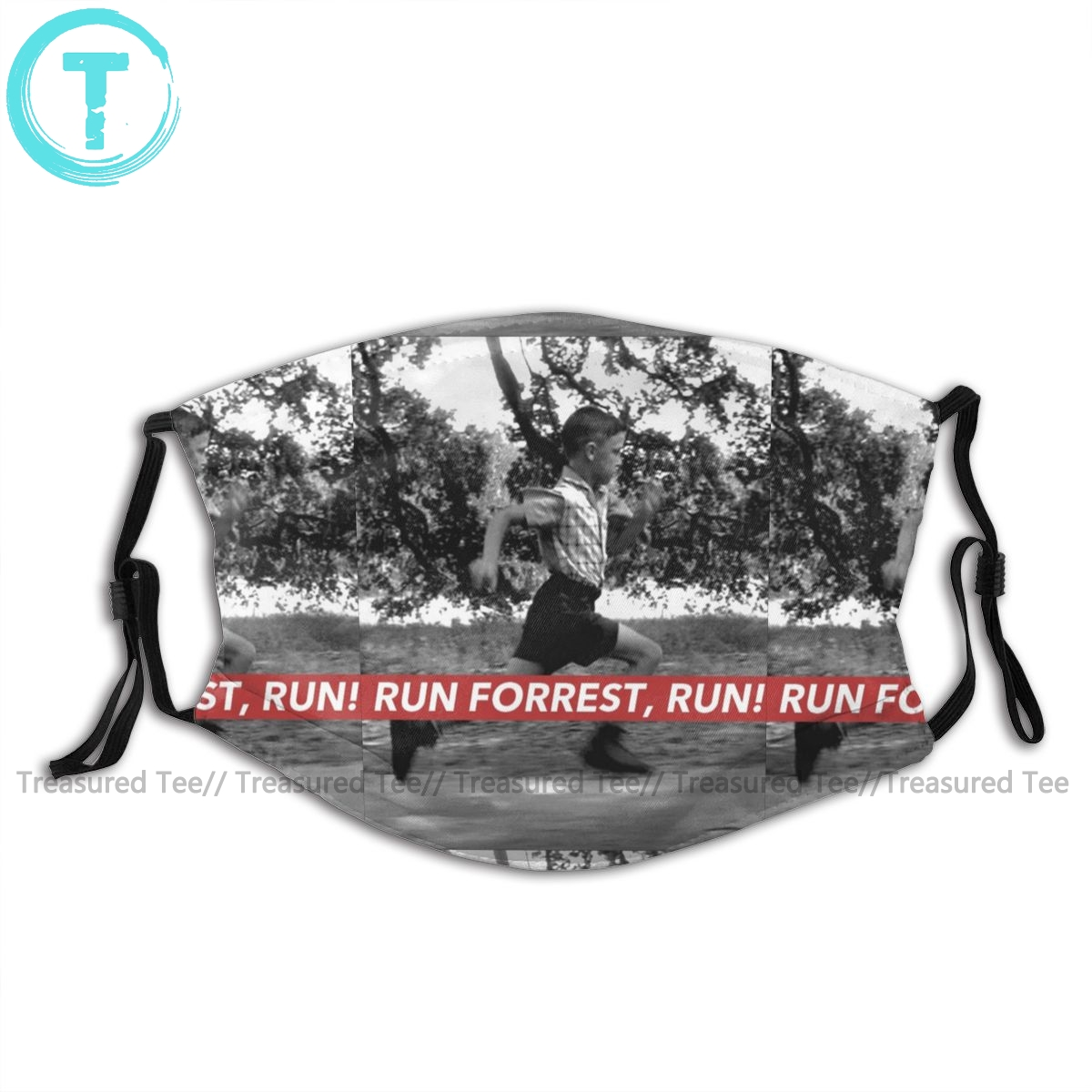 Forrest Gump Mouth Face Mask RUN FORREST RUN Facial Mask Fashion Funny With 2 Filters For Adult