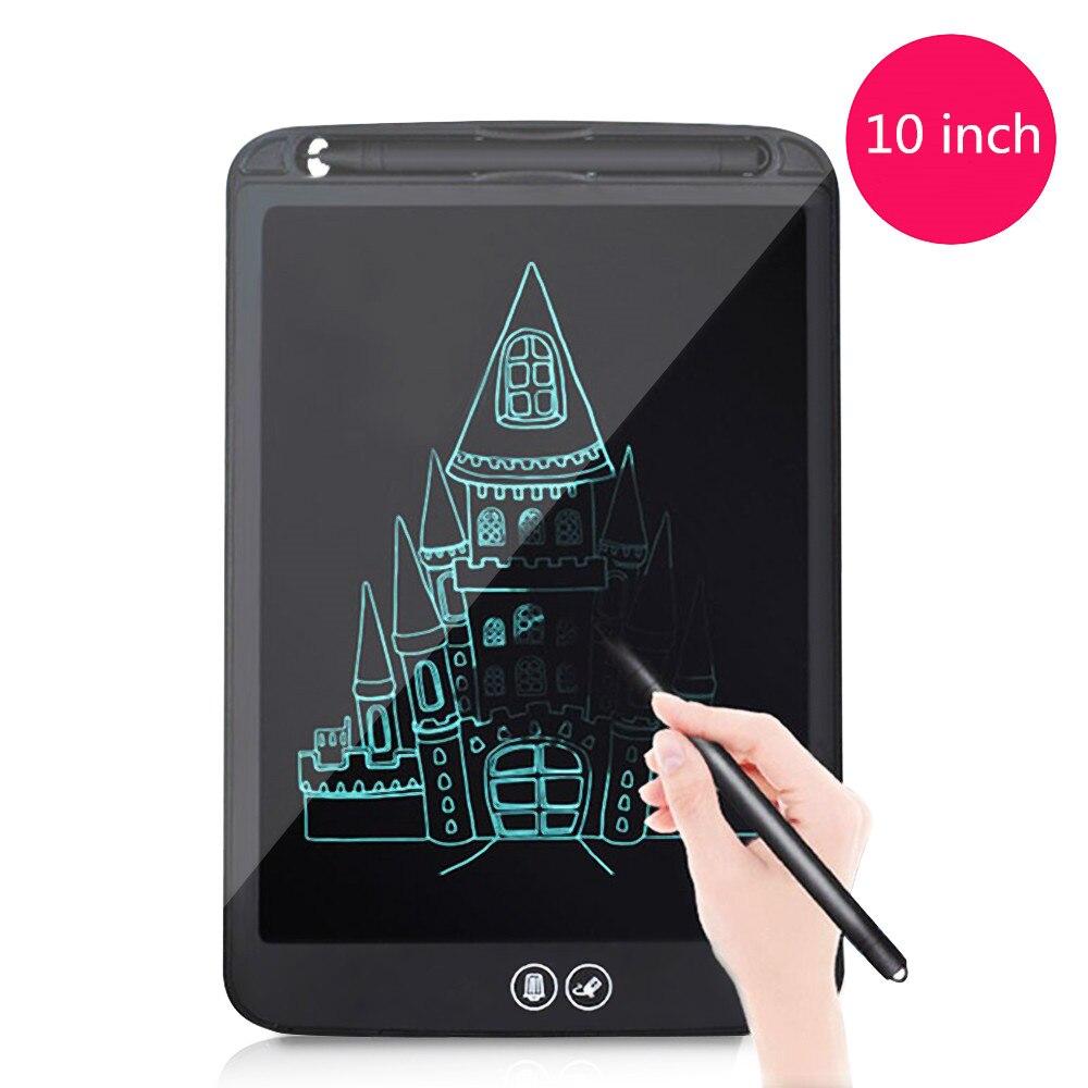 10 дюймов ЖК-дисплей планшет для письма частично стирания доска для рисования электронный Толстая ручка подсветка колодки цифровой Планшет...