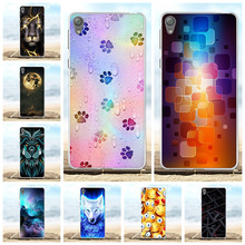 For Sony Xperia E5 Cover Ultra-thin Soft TPU Silicone For Sony Xperia E5 Case Wild Animal Patterned For Sony Xperia E5 Funda Bag чехол momax ultra thin case for sony xperia z white