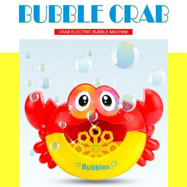 1Pcs Outdoor Bubble Machine Crabs Music Kids Bath Toy ABS Bathtub Soap Automatic Bubble Maker Baby Bathroom Toy For Children 4