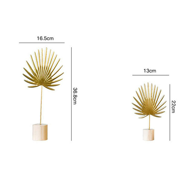 Nordic Iron Luxury Golden Banana Leaf Ornaments Home Furnishing Crafts Gifts Living Room Cabinet Art Home Decoration Accessories 6
