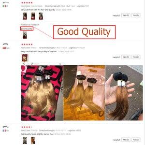 Image 5 - MOGUL cheveux 50 g/pc 4/6 Bundle avec fermeture miel blond faisceaux avec fermeture T 1B 27 brésilien droit Ombre Remy cheveux humains