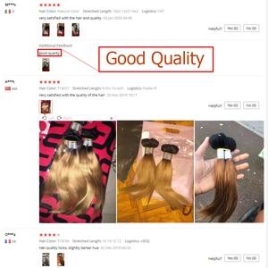 Image 5 - Mechones de cabello MOGUL de 50g/pieza 4/6 mechones con cierre rubio miel con cierre T 1B 27 pelo humano brasileño liso Ombre Remy