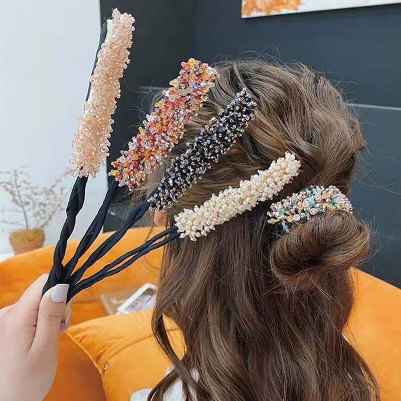 Женская Цветочная пончик для пучка, инструмент «сделай сам» для укладки волос, бигуди для волос в Корейском стиле, аксессуары