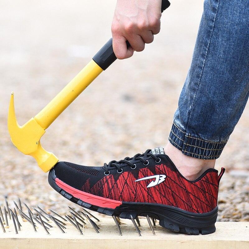JODIMITTY Scarpe Da Lavoro di Sicurezza Stivali Per Gli Uomini di Sesso Maschile di Protezione Puntale In Acciaio Anti-Smashing Costruzione Sneakers Formato 39- 48