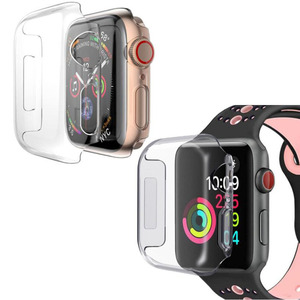 Image 1 - PC Hard Protective Case Shell Frame For iwatch Apple Watch Series 2/3/4/5/6/SE 38mm 42mm 40mm 44mm Screen Protector Glass Cover