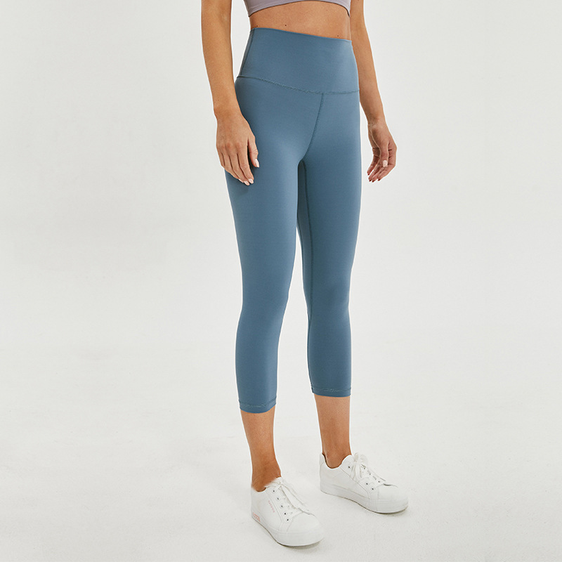 High Waist Gym Sport Tights Internal Pocket Cropped Yoga Pants Women Soft Female Athletic Fitness Capri Women Stretchy Leggings
